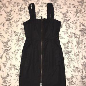 Burberry Mini Black Zip Up Dress